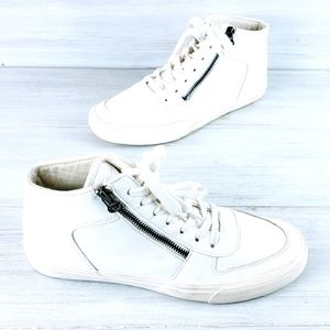 Carbon Elements Leather High Top Sneakers